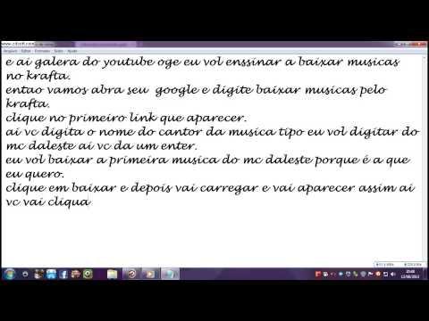 COMO BAIXAR MUSICAS PELO KRAFTA.