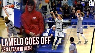 Chino Hills VS #1 Utah Team! LaMelo ON FIRE w/ Lonzo Watching! Chino Hills VS Wasatch Academy