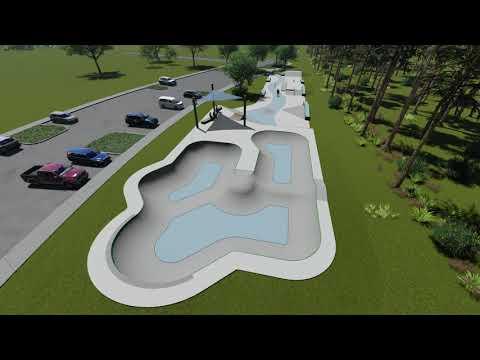 Walton County Skatepark - Conceptual 3D Model