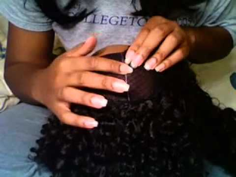 Invisible Part Wig No. 1 (Braid pattern for sew in @ the end)