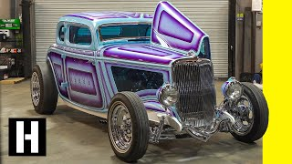 "800 hp, 1900lbs: The Insanely Detailed '34 Ford ""Iron Orchid"""