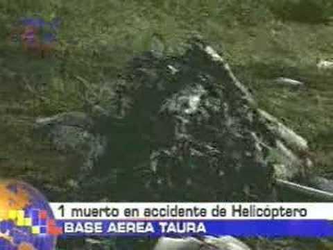 1 muerto en accidente de helicóptero