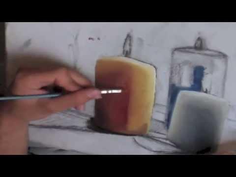 Peinture à l'huile : Comment peindre une bougie