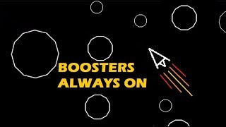 AI learns to play asteroids when boosters are locked on full