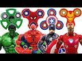 Spider Hulk, Red Hulk, Iron Man, Spider Man, Captain America, Marvel Avengers & Fidget Spinner