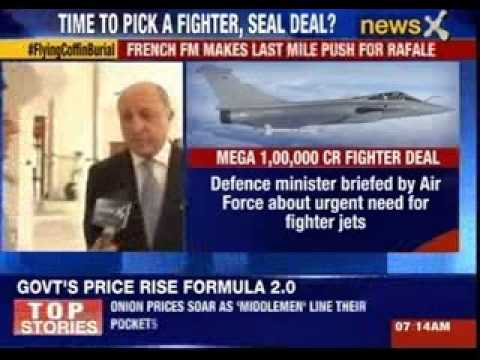 French Foreign Minister makes last mile push for Rafale jet