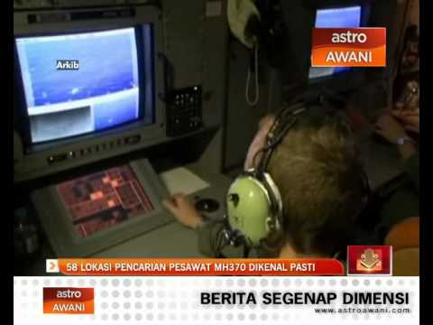 58 lokasi pencarian pesawat MH370 dikenal pasti