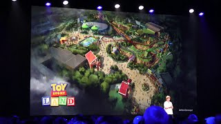 Toy Story Land announcement at D23 Expo 2015 - coming to Disney