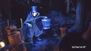 NEW! Hatbox Ghost Makes his way back to Haunted Mansion 2015 - Outstanding Low Light Video