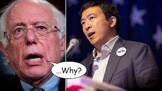 Andrew Yang Doesn't Like Bernie Sanders' Free College Proposal