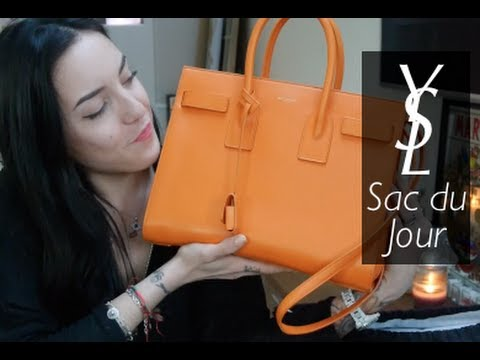Handbag Review: Saint Laurent Small Sac du Jour in Orange | SoTotallyVlog