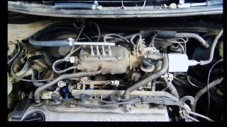 Car engine running on 100% HHO pure hydrogen & oxygen (Sever-S © 2014)