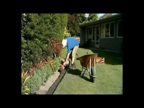 Garden Edging Concrete Diy Or Professional Youtube