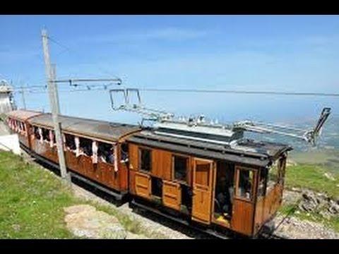 France Pyrénées Atlantiques Pays Basque Ascension de la Rhune par le petit train a Crémaillère