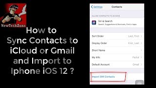 How to Sync iPhone Contacts to iClouds or Gmail in iOS 12?