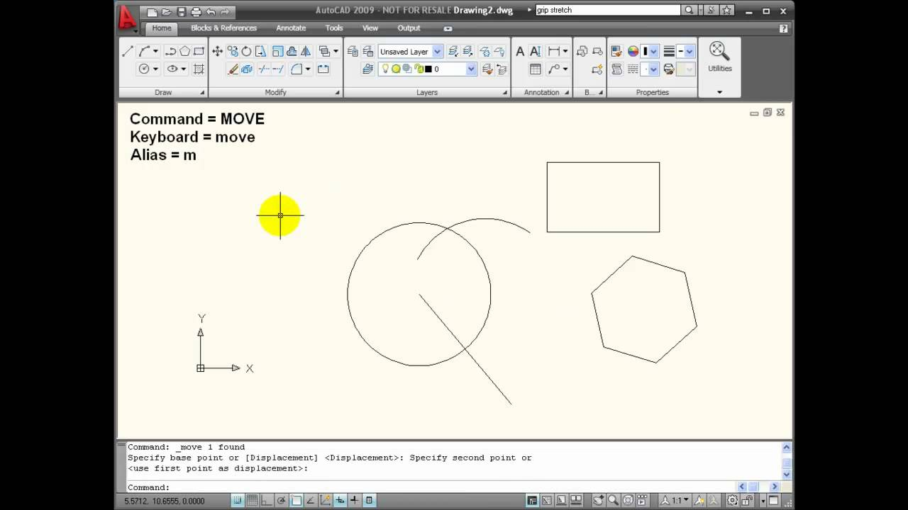 how to add snap to make square autocad