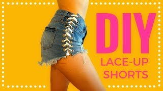 DIY LACE-UP SHORTS