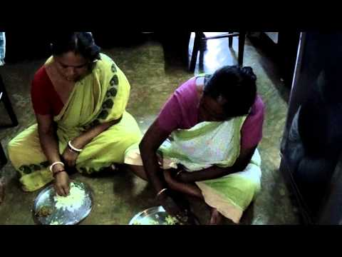 Aunty And Sister In Law Eating Lunch In Our Room video