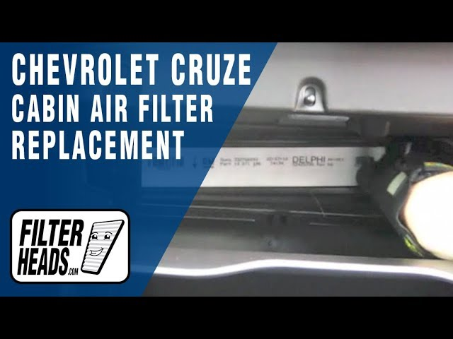 Cabin air filter replacement- Chevrolet Cruze - YouTube