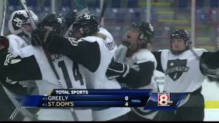 Falmouth and St.Dom's move into girls hockey championship