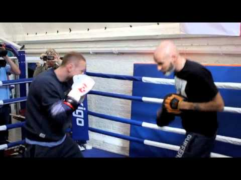 GEORGE GROVES FULL DEFENSIVE PAD WORKOUT WITH PADDY FITZPATRICK
