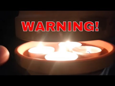 RISK OF DEATH! Clay Flower Pot Candle Heater