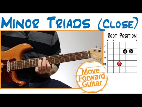 Guitar Chords - minor Triads and Inversions (close)