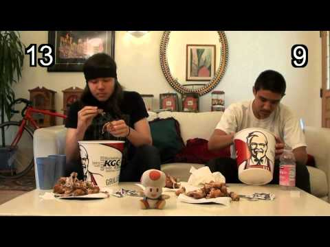 KFC 20 Piece Bucket Eating Challenge
