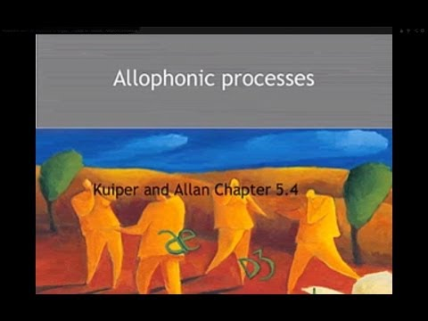 Header of allophonic