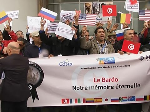 Raw: Pro-Tourism Rally at Museum Hit by Terror