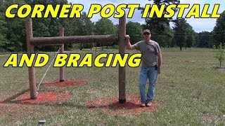Corner post installation and bracing - Detailed video