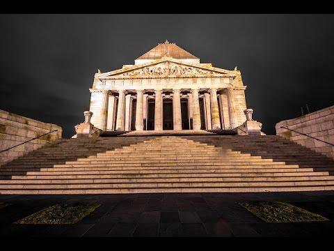 Hyde Park Sydney - Shrine of Remembrance Melbourne
