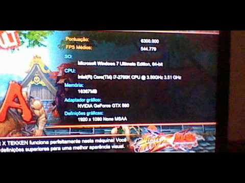 Street Fighter X Tekken - Benchmark I7 2700k 3.5@4.3 + Gtx 580 Soc