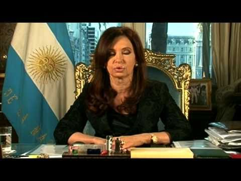 La Presidenta Cristina Fernández de Kirchner agradece a los argentinos. CADENA NACIONAL
