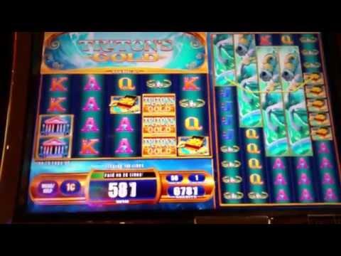 Triton's Gold slot machine at Parx casino