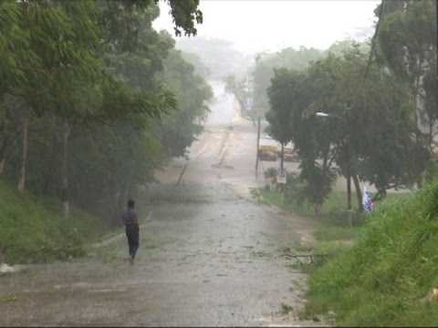 Raw: Flooding in Belize from Tropical Storm Earl