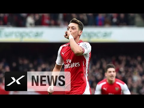 Arsene Wenger mit Liebesbekenntnis an Mesut Özil | FC Arsenal - FC Liverpool 4:1