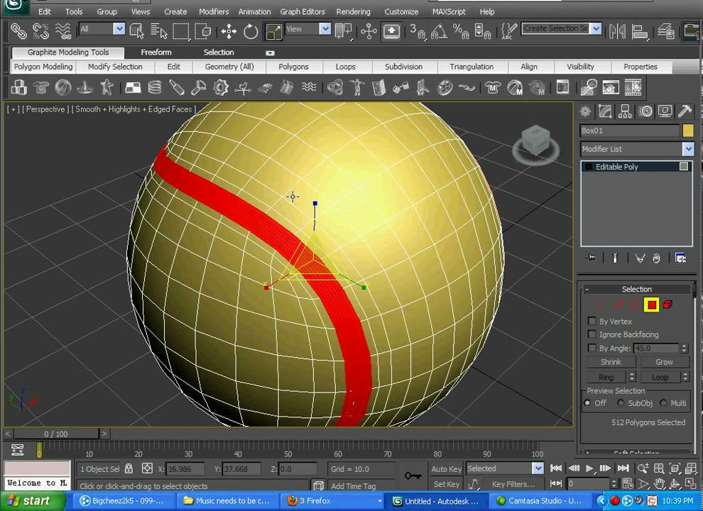 Tennis ball 3ds max tutorial part 1 youtube for Tutorial 3d max