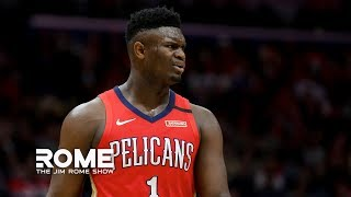 Zion Williamson Dominates The Fourth Quarter of his NBA debut | The Jim Rome Show