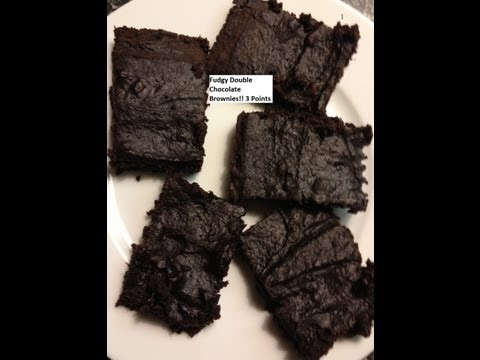 Moist Weight Watchers Friendly (quick and easy) Double Dark Chocolate Fudge Brownies Recipe!!