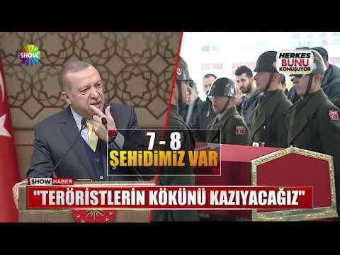 """Erdoğan: """"Teröristlerin kökünü kazıyacağız"""""""