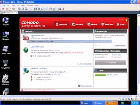 Comodo 4 Internet Security Review and Tests Part 1