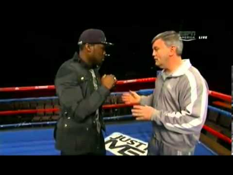 ESPN - Teddy Atlas teaches 50 cent Boxing