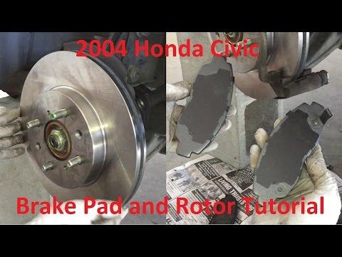 Tutorial: Replace 2004 Honda Civic brake pads and rotors