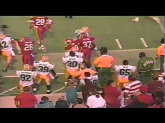 Oregon RB Donovan Moore 35 yard kickoff return vs Utah 9-21-1991