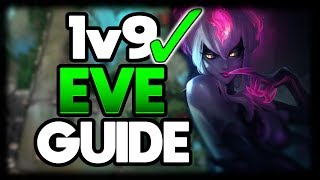 HOW TO CARRY WHEN EVERY LANE INTS | 1v9 Evelynn Jungle Commentary Guide - League of Legends