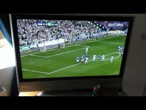 Rangers Vs Celtic 24/04/11 - Allan McGregor Saves Georgios Samaras Penalty
