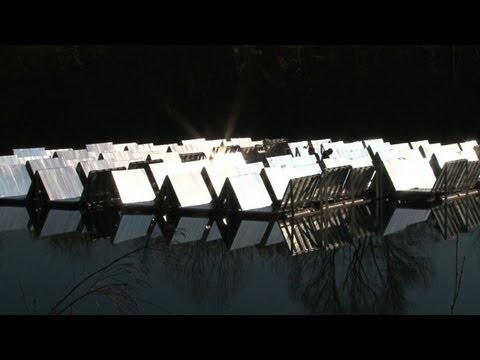 Italian engineers pioneer floating solar panels