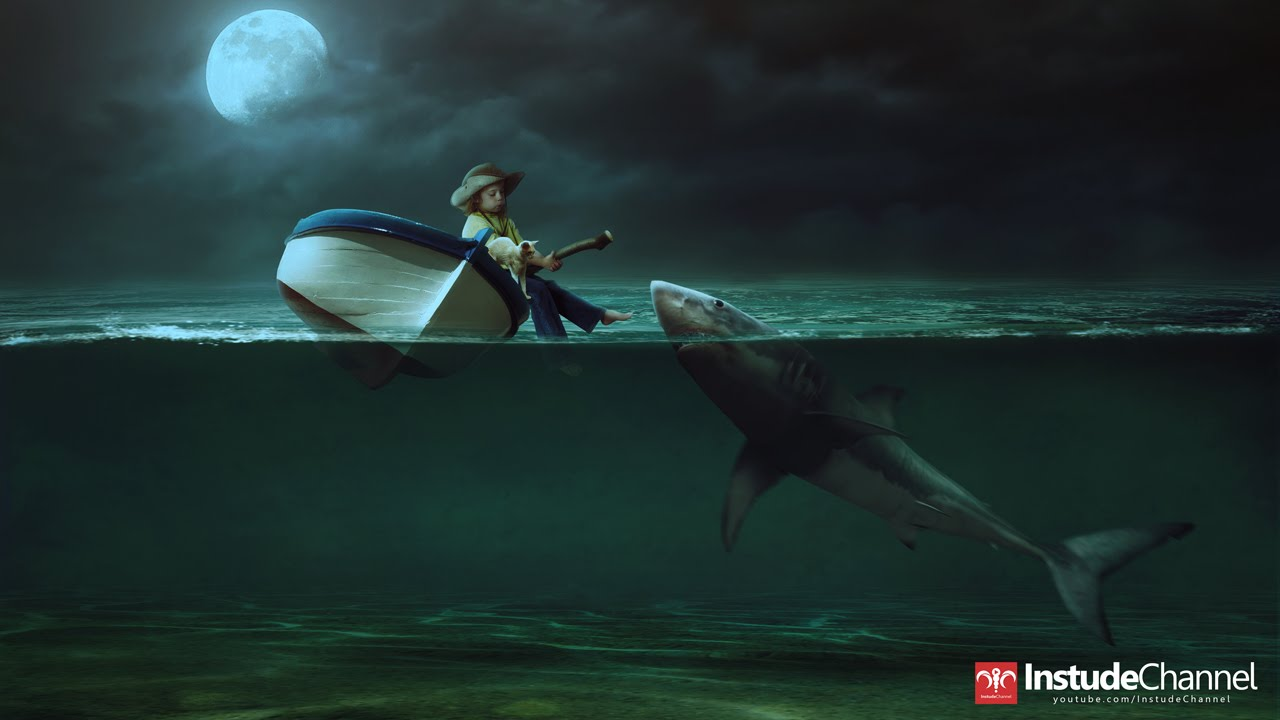 Shark Photoshop Tutorial Tutorial Shark Attack by