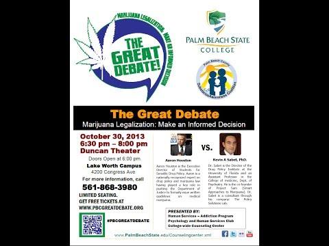 20 Minutes of Debate-Marijuana Legalization-The Great Debate- Palm Beach State College